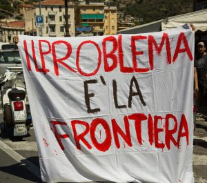 VENTIMIGLIA, IMPERIA, ITALY - 2016/08/07: No borders movement do a strike in Ventimiglia, The protesters is against closing of the border and the situation of the migrants in the city. (Photo by Lorenzo Apra/Pacific Press/LightRocket via Getty Images)